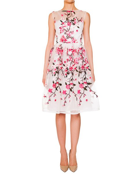 платье из легкой ткани, декорировано вышивкой артикул S16JAB628RAM марки SI-JAY купить за 19200 руб.