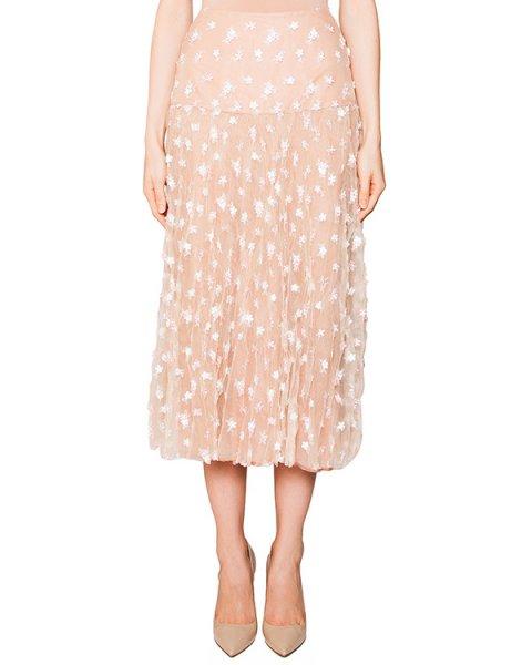 юбка из легкой ткани с вышивкой и апплликациями артикул S16JSK604ORR марки SI-JAY купить за 28400 руб.