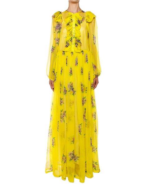 платье из легкого полупрозрачного шелка с цветочным принтом артикул S16MAB382CRS марки Marcobologna купить за 91800 руб.