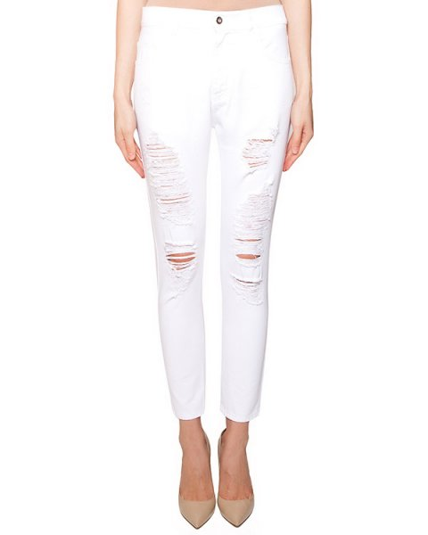 джинсы зауженного кроя с потертостями артикул S16MTR331ARC марки Marcobologna купить за 7700 руб.
