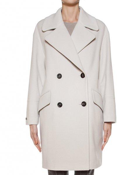 пальто двубортное из плотной вирджинской шерсти артикул S20362 марки Peserico купить за 56300 руб.