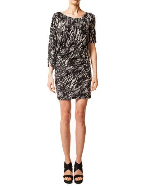 платье асиметричного кроя, с абстрактным принтом артикул S32CT0572 марки MM6 Martin Margiela купить за 8700 руб.