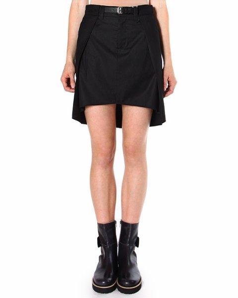 юбка асимметричной длины с тонким ремешком артикул S32MA0208 марки MM6 Martin Margiela купить за 9400 руб.