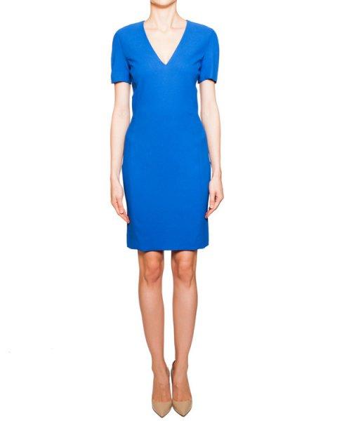 платье из мягкой эластичной ткани с глубоким вырезом и оборками сзади артикул S44CT0357 марки VIKTOR & ROLF купить за 36500 руб.