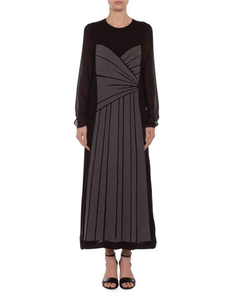 платье maxi с нашивной фактурной аппликацией артикул S45CT0355 марки VIKTOR & ROLF купить за 59000 руб.