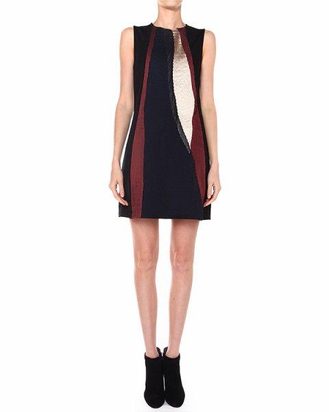 платье с разноцветными рельефными вставками из шелка артикул S480 марки DONDUP купить за 10300 руб.