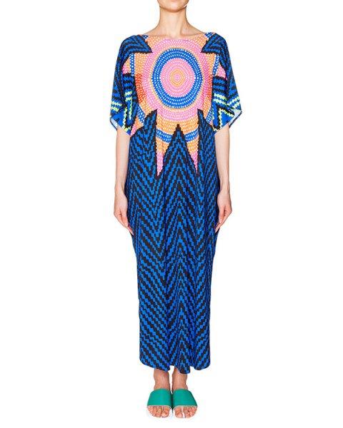 платье свободного кроя из легкой ткани с ярким этническим рисунком артикул S611094570 марки Mara Hoffman купить за 23100 руб.