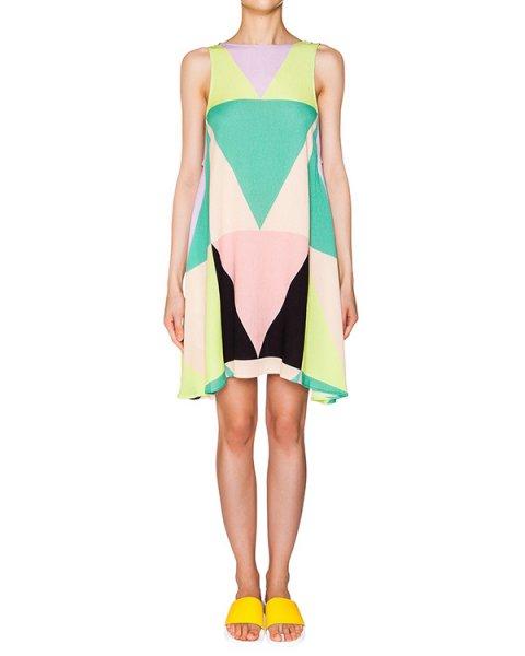 платье свободного кроя из легкого трикотажа с геметрическим принтом артикул S611095930 марки Mara Hoffman купить за 22900 руб.