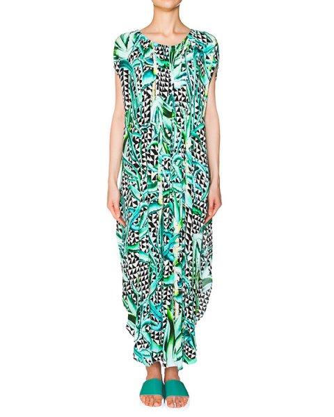 платье из легкого трикотажа с растительным принтом артикул S612095600 марки Mara Hoffman купить за 27600 руб.