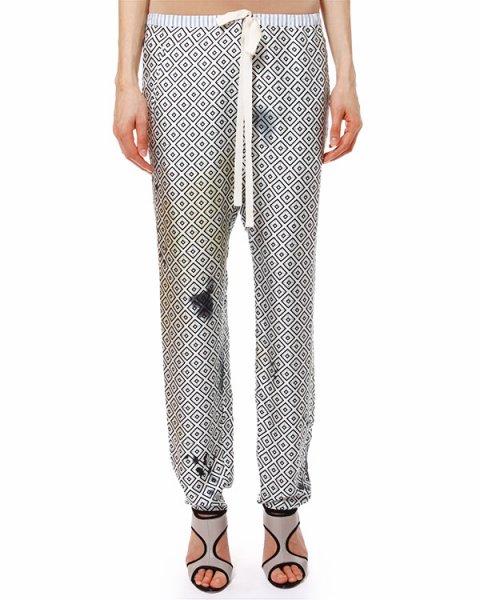 брюки пижамного кроя и легкого шелка с геометрическим принтом артикул S63059166 марки Hache купить за 11600 руб.