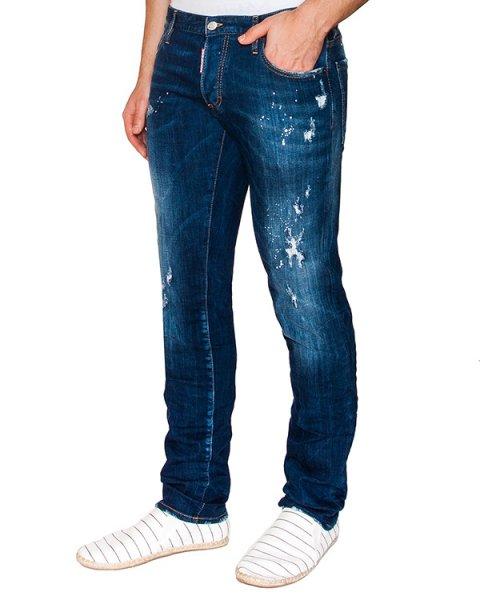 джинсы прямого кроя из плотного потертого денима артикул S71LB0072 марки DSQUARED купить за 22100 руб.