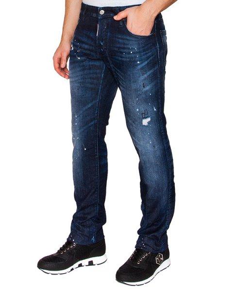 джинсы прямого кроя из плотного потертого денима артикул S71LB0096 марки DSQUARED купить за 22100 руб.