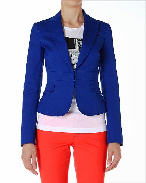 пиджак приталенного силуэта, с застежками-крючками артикул S72BN0355 марки DSQUARED купить за 26400 руб.