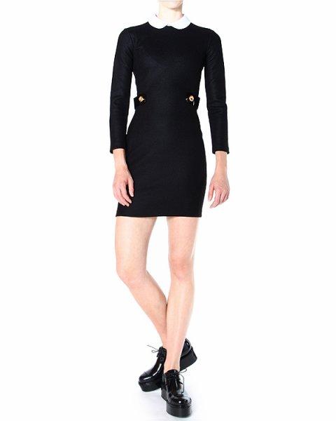 платье с отложным воротничком и застежкой-молнией на спине артикул S72CT0971 марки DSQUARED купить за 25100 руб.