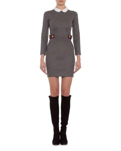 платье с отложным воротничком и застежкой-молнией на спине артикул S72CT0971 марки DSQUARED купить за 27900 руб.