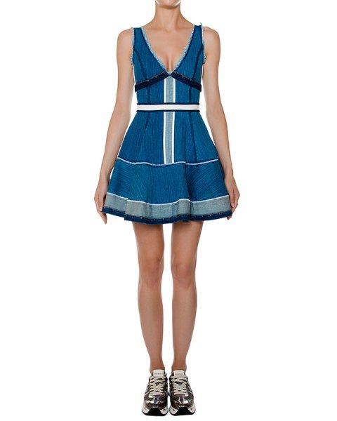 платье приталенного кроя из цветного денима артикул S72CU0280 марки DSQUARED купить за 35400 руб.