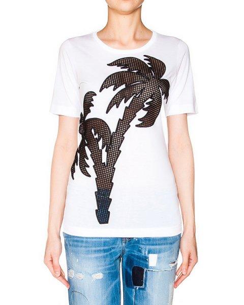 футболка из хлопкового трикотажа с вышивкой в виде пальмы артикул S72GC0911 марки DSQUARED купить за 26600 руб.