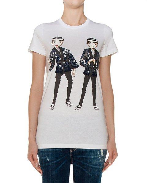 футболка  артикул S72GC0943-S22427 марки DSQUARED купить за 12200 руб.