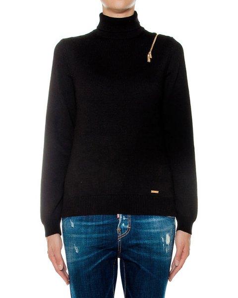 свитер из вирджинской шерсти, дополнен молнией артикул S72HA0655 марки DSQUARED купить за 44000 руб.