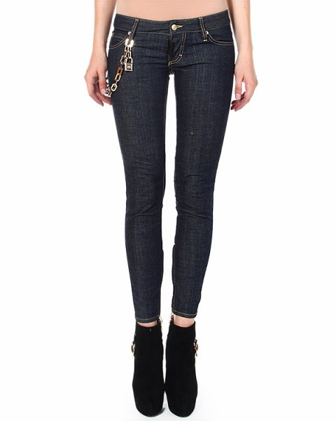 джинсы skinny с низкой посадкой артикул S72LA0665 марки DSQUARED купить за 18800 руб.