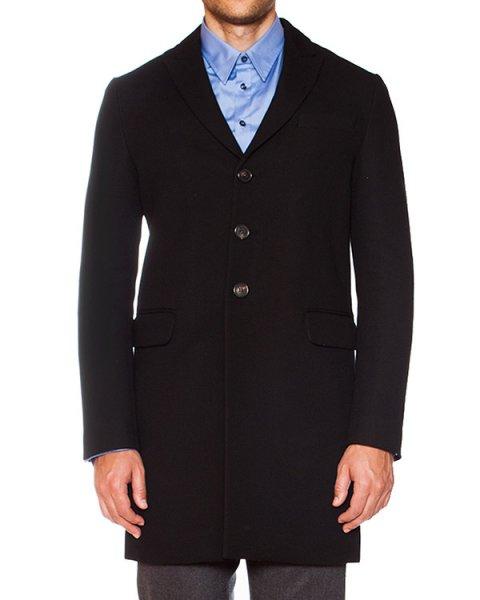 пальто приталенного силуэта из плотной костюмной ткани артикул S74AA0076 марки DSQUARED купить за 35600 руб.