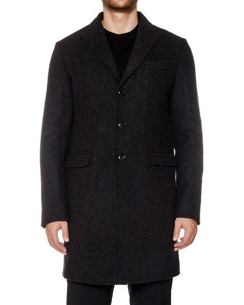пальто прямого кроя из ворсистой вирджинской шерсти артикул S74AA0101 марки DSQUARED купить за 101200 руб.