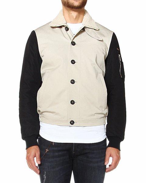 куртка бомбер с воротником из овчины артикул S74AM0457 марки DSQUARED купить за 34300 руб.