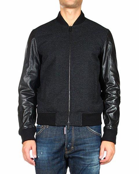 куртка с трикотажным воротником-стойкой и манжетами артикул S74AM0476 марки DSQUARED купить за 51500 руб.