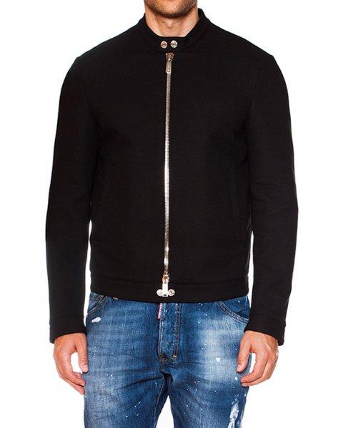 куртка из плотного трикотажа на молнии артикул S74AM0554 марки DSQUARED купить за 31200 руб.
