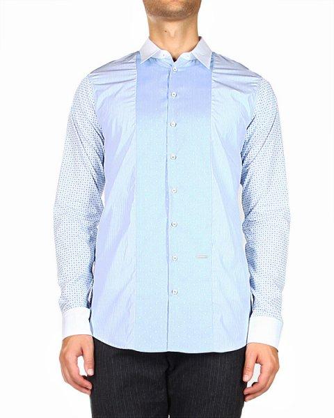 рубашка приталенного кроя, из ткани с комбинированным рисунком артикул S74DL0655 марки DSQUARED купить за 12900 руб.