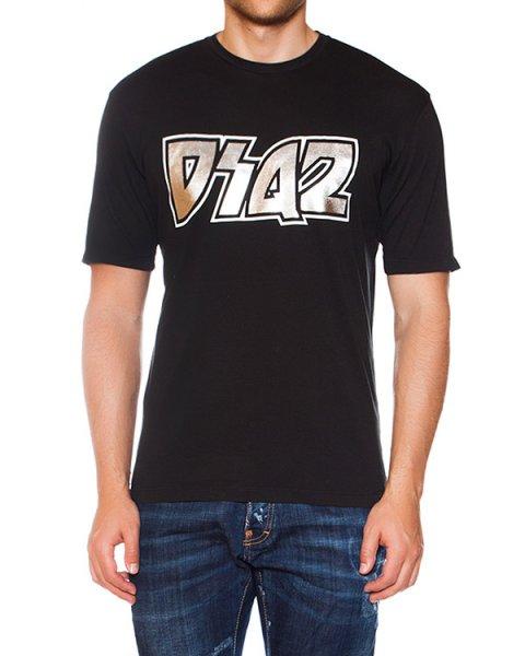футболка из трикотажа с аппликацией артикул S74GD0055 марки DSQUARED купить за 5700 руб.
