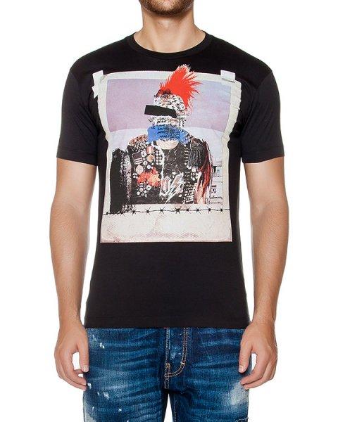 футболка из хлопкового трикотажа с принтом артикул S74GD0146 марки DSQUARED купить за 13200 руб.