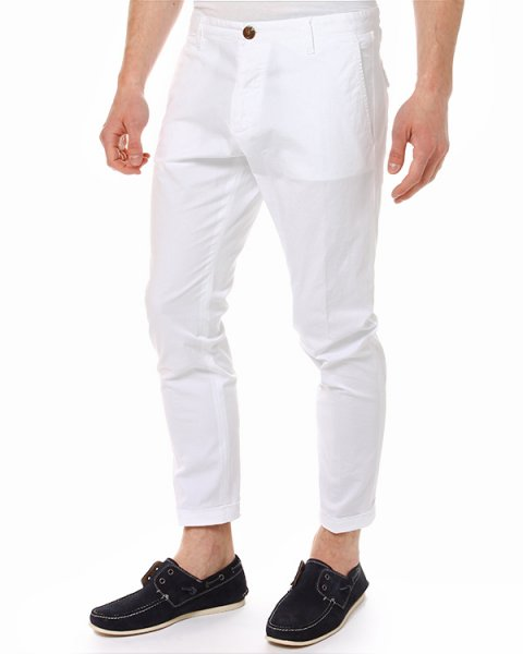 брюки укороченной длины, с прорезными карманами артикул S74KA0658 марки DSQUARED купить за 9400 руб.