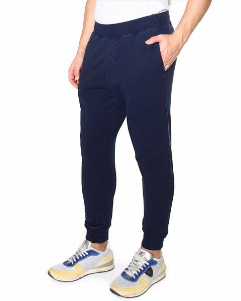 брюки с широкой трикотажной резинкой на щиколотках и боковыми прорезными карманами артикул S74KA0757 марки DSQUARED купить за 9900 руб.