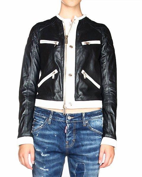куртка стеганная, с контрастными вставками белого цвета артикул S75AM0344 марки DSQUARED купить за 69700 руб.