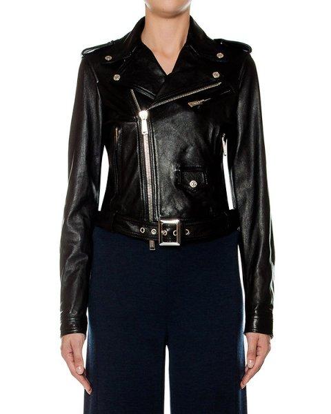 куртка косуха, из натуральной кожи артикул S75AM0454 марки DSQUARED купить за 160600 руб.