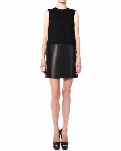 платье с топом из джерси и юбкой из натуральной кожи артикул S75CT0987 марки DSQUARED купить за 29900 руб.