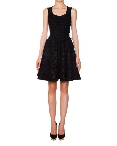 платье расклешенного кроя с фактурным узором артикул S75CU0119 марки DSQUARED купить за 39500 руб.