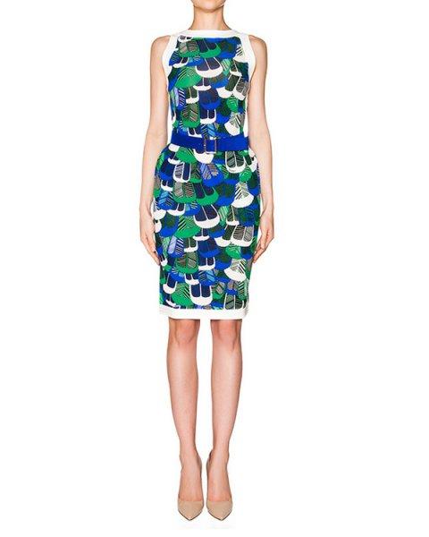 платье из эластичной ткани с абстрактным принтом артикул S75CU0242 марки DSQUARED купить за 79900 руб.