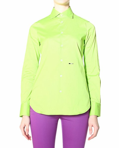 рубашка с классическим воротником приталенной модели и манжетами на одну пуговицу артикул S75DL0405 марки DSQUARED купить за 8300 руб.