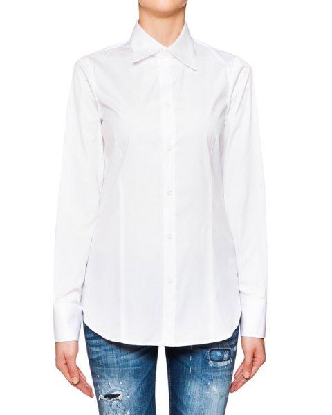 рубашка классического кроя из хлопка артикул S75DL0451 марки DSQUARED купить за 9400 руб.