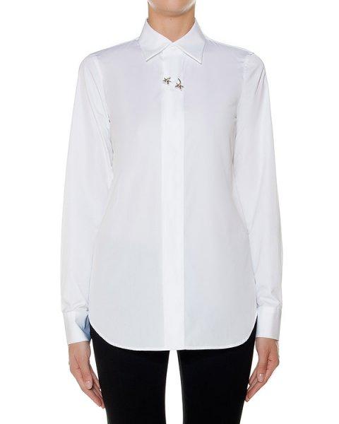рубашка классического кроя из хлопка, дополнена металлической фурнитурой артикул S75DL0492 марки DSQUARED купить за 22000 руб.