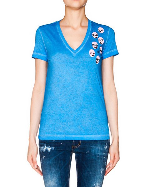 футболка из хлопкового трикотажа с аппликацией артикул S75GC0788 марки DSQUARED купить за 14500 руб.