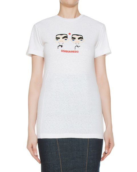 футболка  артикул S75GC0856 марки DSQUARED купить за 10400 руб.