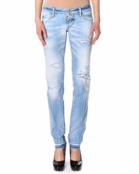 джинсы классической модели Slim 5 карманов артикул S75LA0572 марки DSQUARED купить за 13900 руб.
