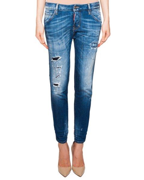 джинсы из плотного денима с потертостями артикул S75LA0728 марки DSQUARED купить за 21300 руб.