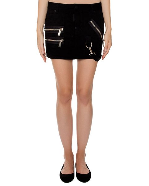 юбка из плотного денима артикул S75MA0458 марки DSQUARED купить за 37400 руб.