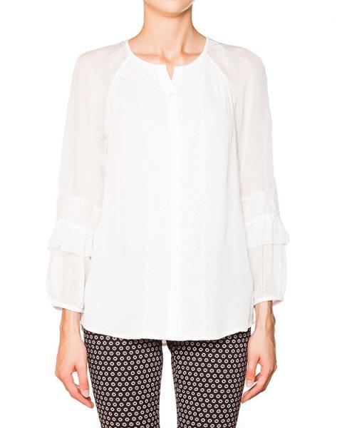 блуза из тонкого шелка с кружевной отделкой артикул S875201 марки DIANE von FURSTENBERG купить за 13400 руб.