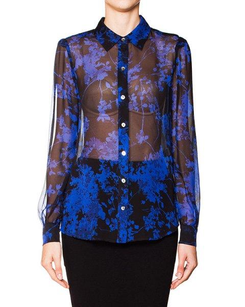 блуза из полупрозрачного шелка с цветочным принтом артикул S943901S15W марки DIANE von FURSTENBERG купить за 10200 руб.
