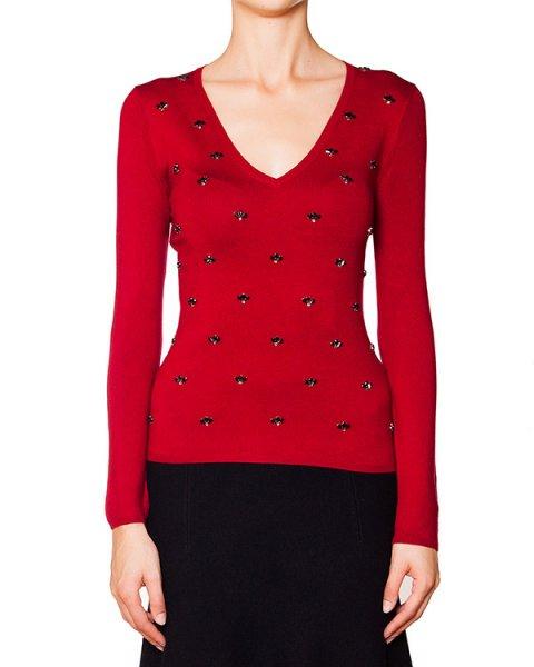 пуловер из шелка и кашемира украшен кристаллами артикул SELINEX511509R марки P.A.R.O.S.H. купить за 12100 руб.